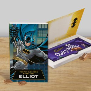 Personalised Batman Cadbury's Chocolate Bar Card