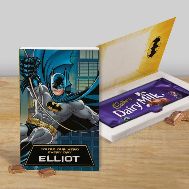 Personalised Batman Cadbury's Chocolate Bar Card