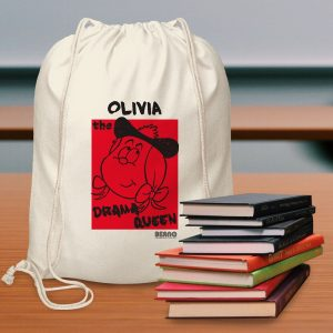 Personalised Beano Big Heads Minnie Drawstring Bag