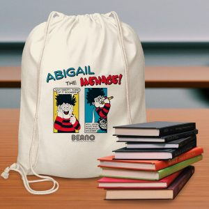 Personalised Beano Classic Comic Problem Solved Drawstring Bag