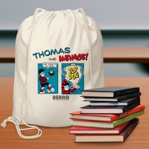 Personalised Beano Classic Comic Strip Top Dog Drawstring Bag