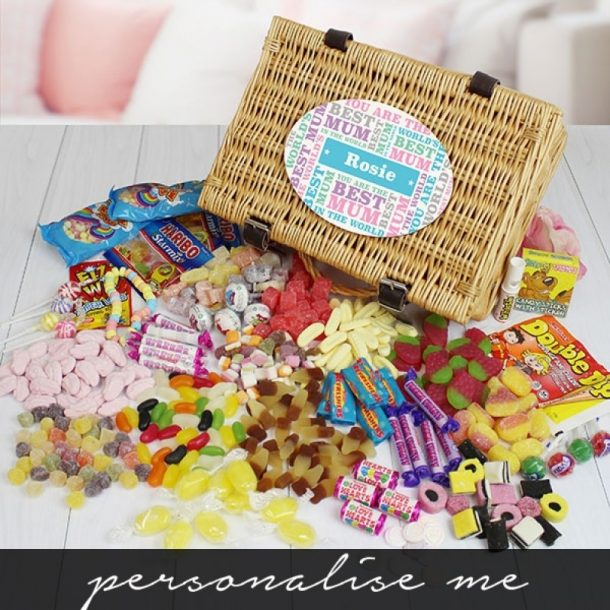 Personalised Best Mum Retro Sweet Hamper