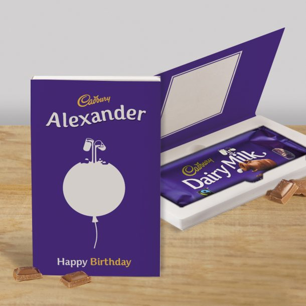 Personalised Cadbury's Dairy Milk Chocolate Bar Birthday Card