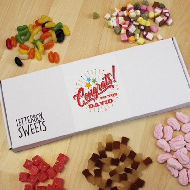 Personalised Congrats To You Letterbox Sweets