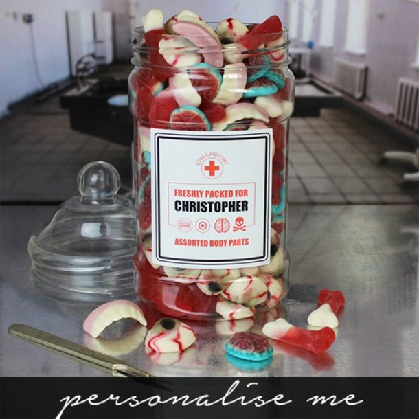 Personalised Edible Anatomy Sweet Jar