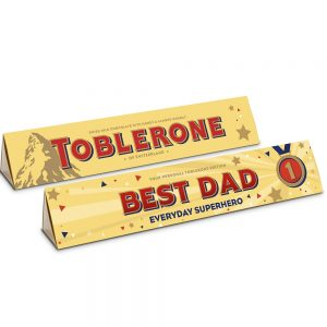 Personalised Father's Day Milk Chocolate Toblerone 360g