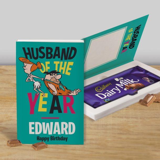 Personalised Flinstones Cadbury's Chocolate Bar Card