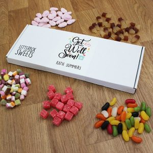 Personalised Get Well Soon Letterbox Sweets