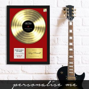 Personalised Gold Your Song Framed Print