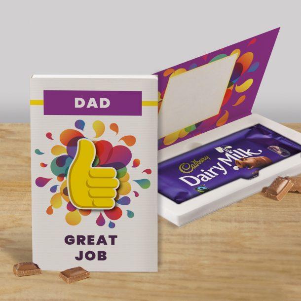 Personalised Great Job Cadbury's Chocolate Bar Card