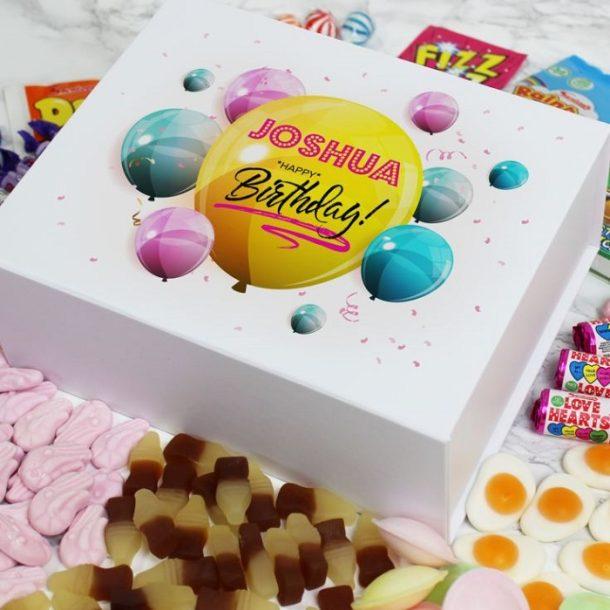 Personalised Happy Birthday Deluxe Sweet Box