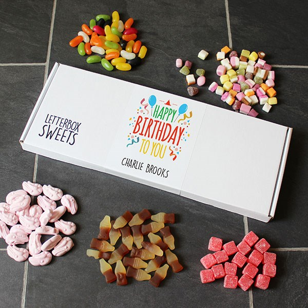 Personalised Happy Birthday Letterbox Sweets