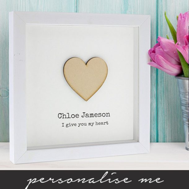 Personalised I Give You My Heart Framed Print