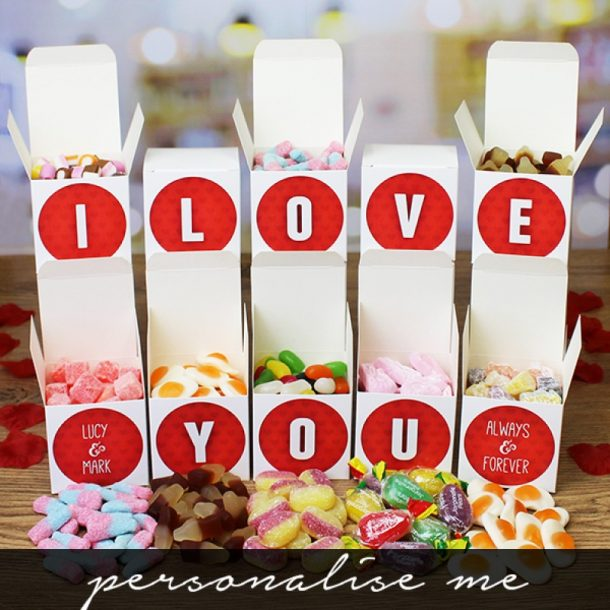 Personalised I Love You Sweet Words