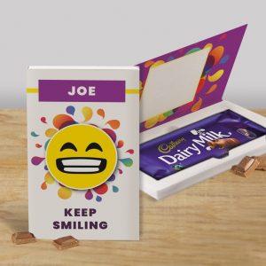 Personalised Keep Smiling Cadbury's Chocolate Bar Card