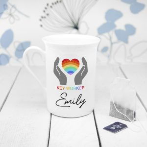 Personalised Key Worker Bone China Mug
