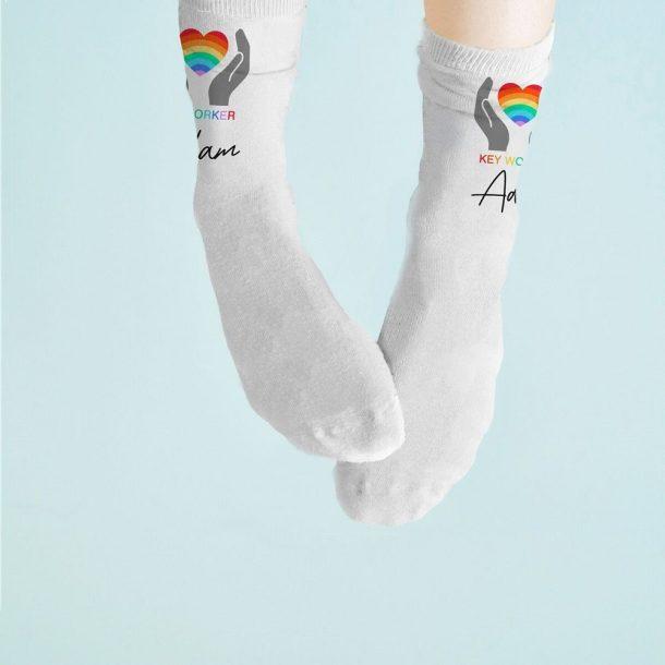 Personalised Key Worker Socks