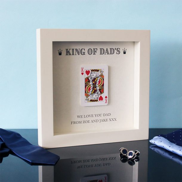 Personalised King Of Dads Hand Finished Frame