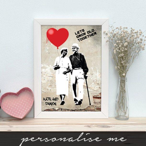 Personalised Lets Grow Old Together Framed Print