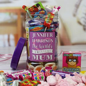 Personalised Mums Retro Sweet Jar