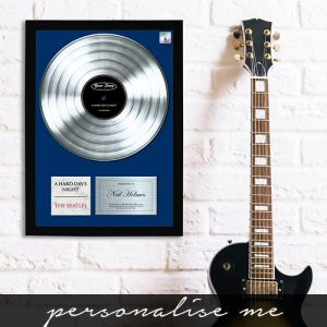 Personalised Platinum Your Song Framed Print