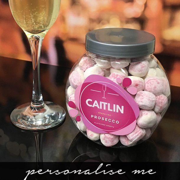 Personalised Prosecco Bon Bons Sweet Jar