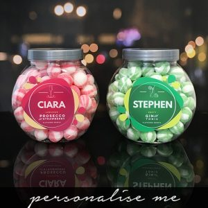 Personalised Prosecco & Gin Sweet Jar Set