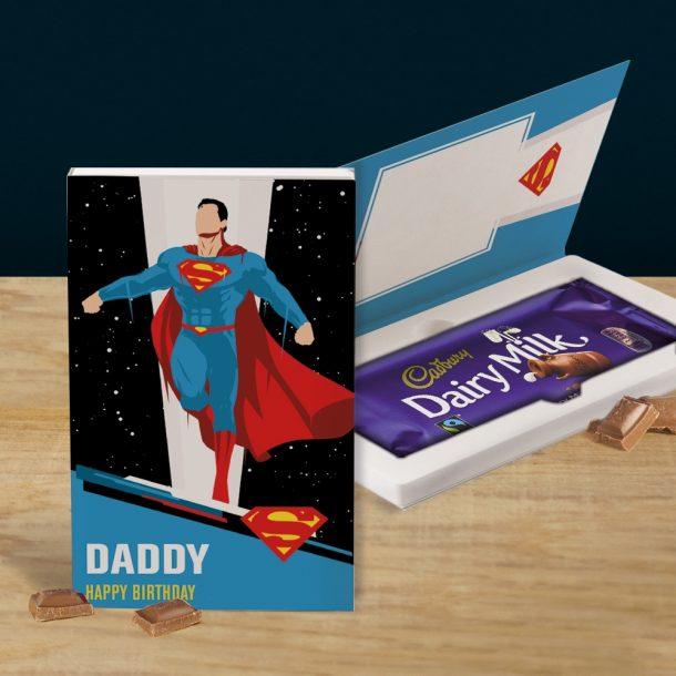 Personalised Superman Cadbury's Chocolate Bar Card