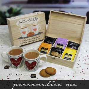 Personalised Tea For Two Tea & Biscuits