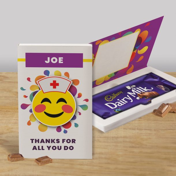 Personalised Thanks for All You Do Cadbury's Chocolate Bar Card