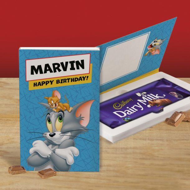 Personalised Tom & Jerry Cadbury's Chocolate Bar Card