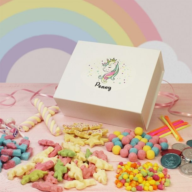 Personalised Unicorn Sweet Box