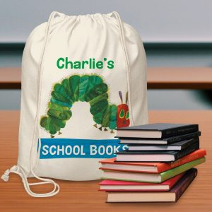 Personalised Very Hungry Caterpillar Drawstring Bag