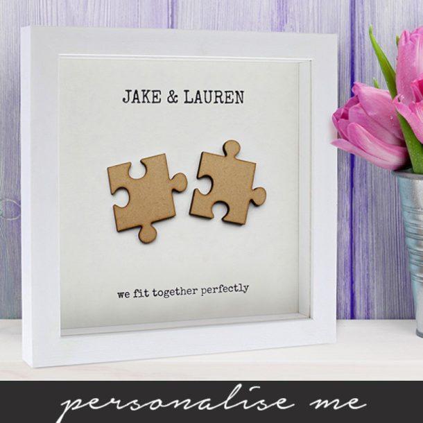 Personalised We Fit Together Framed Print