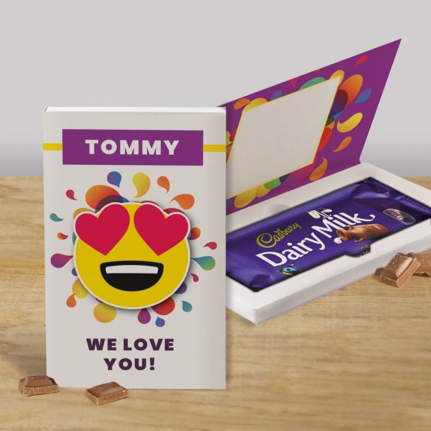 Personalised We Love You Cadbury's Chocolate Bar Card