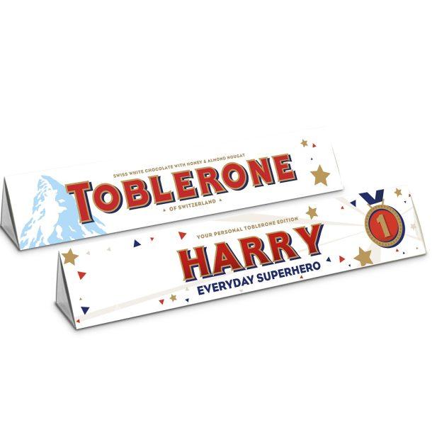 Personalised White Chocolate Toblerone 360g