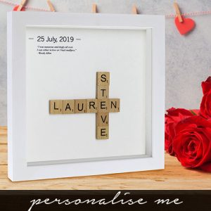 Personalised Wooden Letter Tiles Framed Print