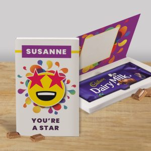 Personalised You're A Star Cadbury's Chocolate Bar Card