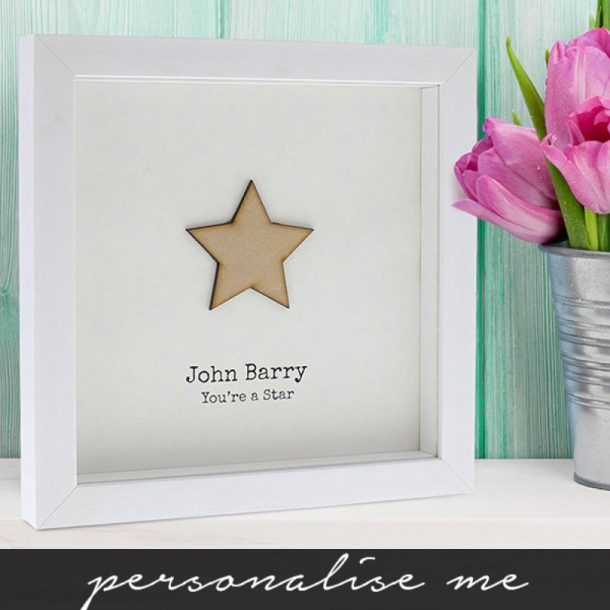 Personalised You're A Star Framed Print