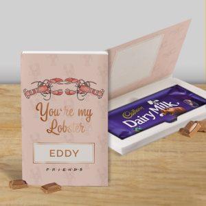 Personalised You're My Lobster Cadbury's Chocolate Bar Card