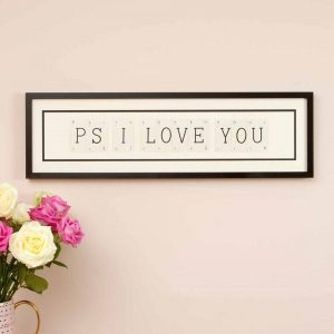 Ps I Love You Vintage Card Frame