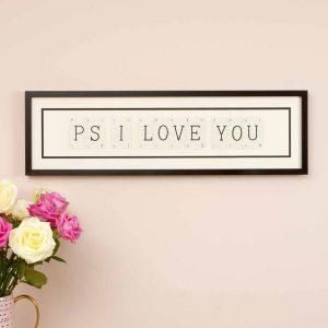Ps I Love You Vintage Card Frame