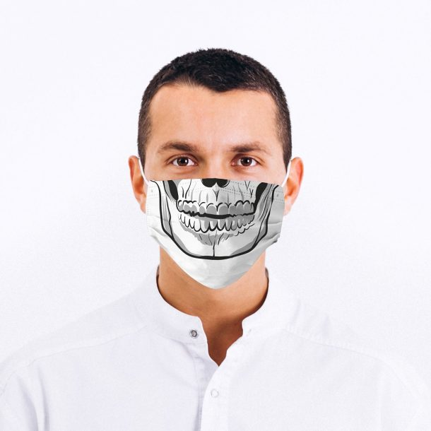 Skull Mouth Printed Face Mask