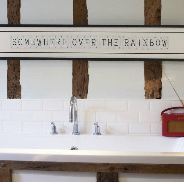 Somewhere over the rainbow Vintage Card Frame