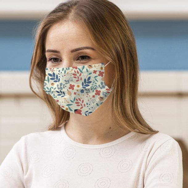 Spring Flowers Printed Face Mask