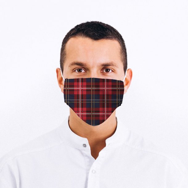 Tartan Printed Face Mask