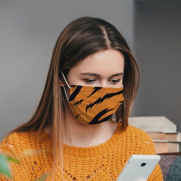 Tiger Printed Face Mask