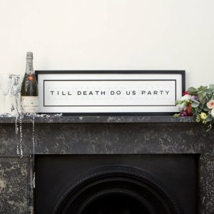 Till death do us party Vintage Card Frame