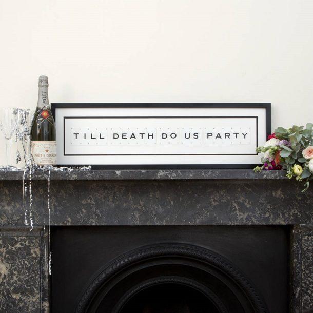 Till death do us party Vintage Card Frame