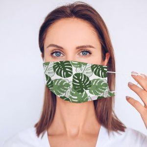 Tropical Leaf Printed Face Mask